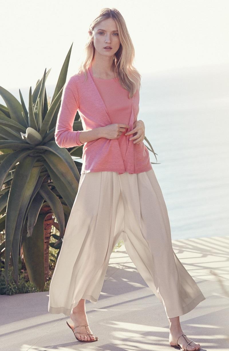 Eileen Fisher Merino Straight Cut Open Front Cardigan