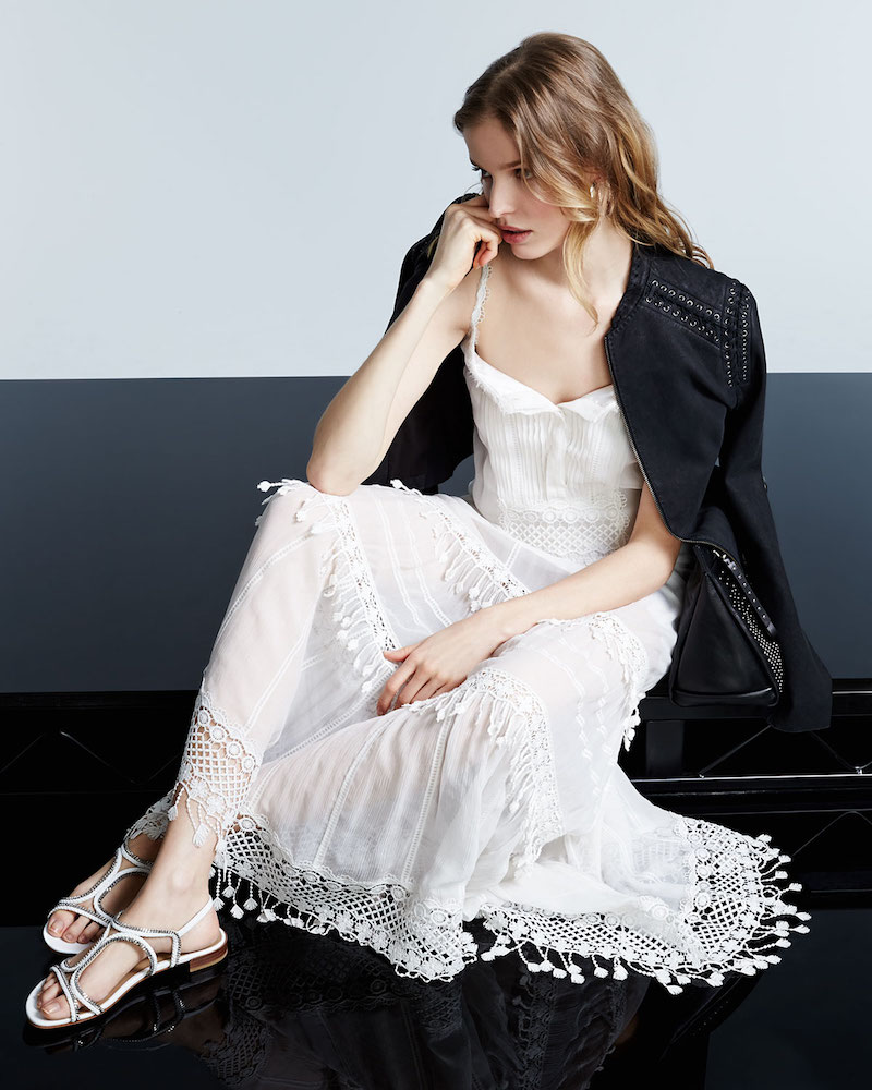 Elie Tahari Keagan Maxi Dress with Crochet Trim