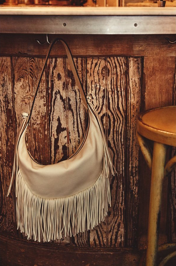 Elizabeth and James Zoe Fringe Hobo Bag