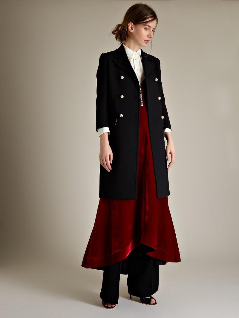 Ellery Roulette zip-detail velvet cami dress