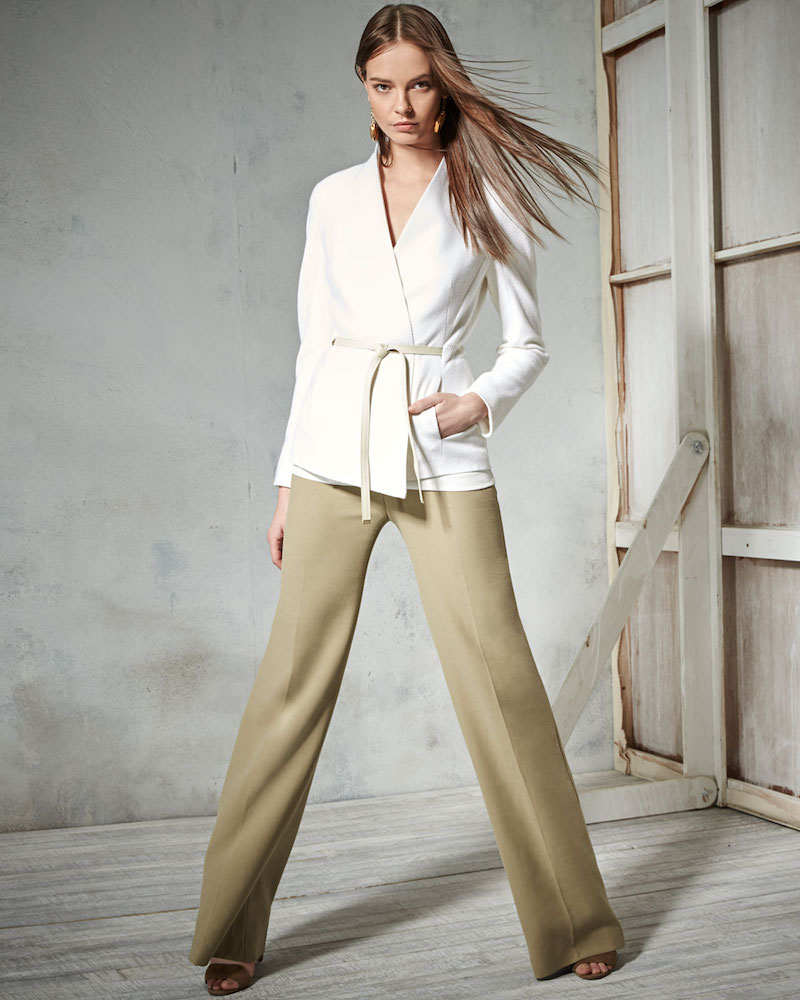 Escada Cashmere Open-Front Jacket with Belt