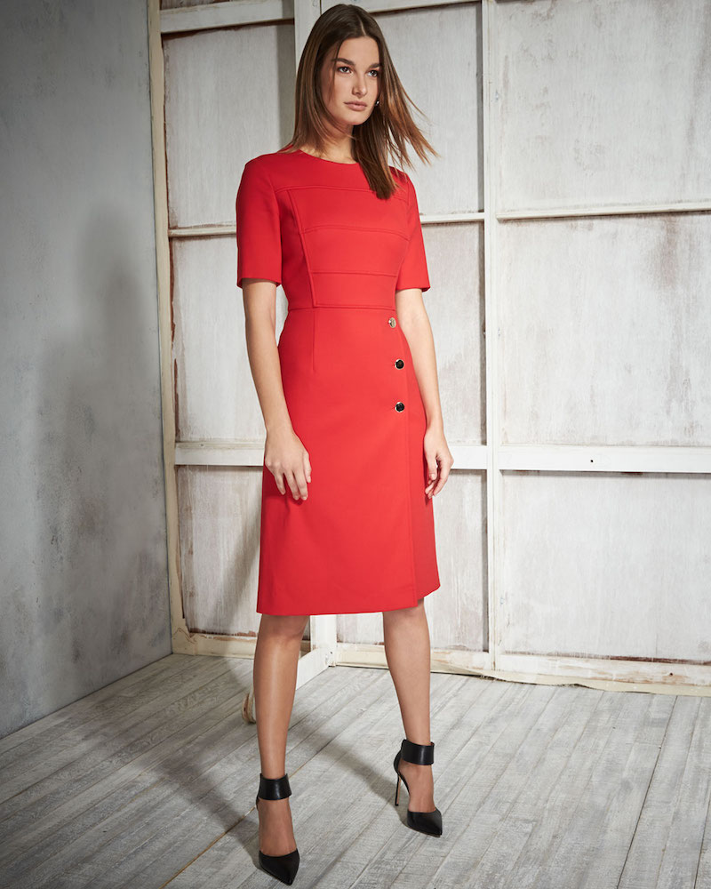 Escada Short-Sleeve Sheath Dress