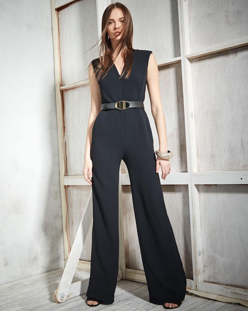 Escada Sleeveless Zip-Front Belted Jumpsuit