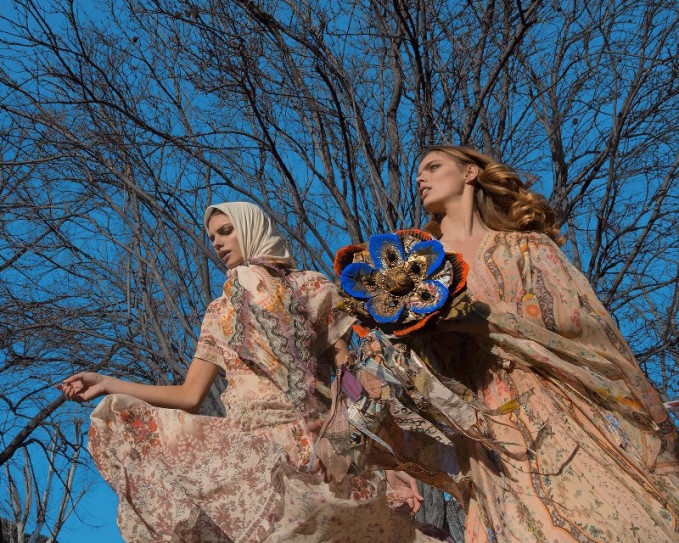 Etro Floral Printed Silk Chiffon Dress