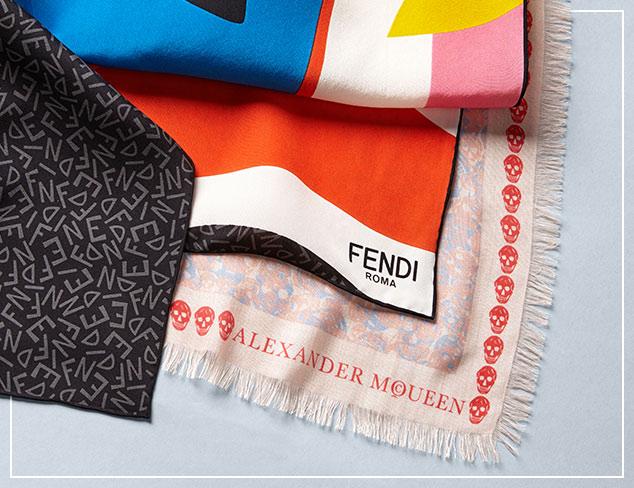 Fendi, Mcqueen & Burberry Scarves at MYHABIT