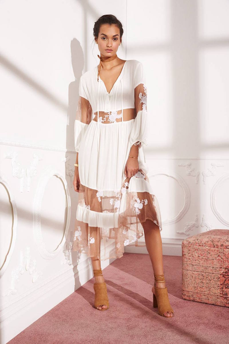 For Love & Lemons Eva Midi Dress