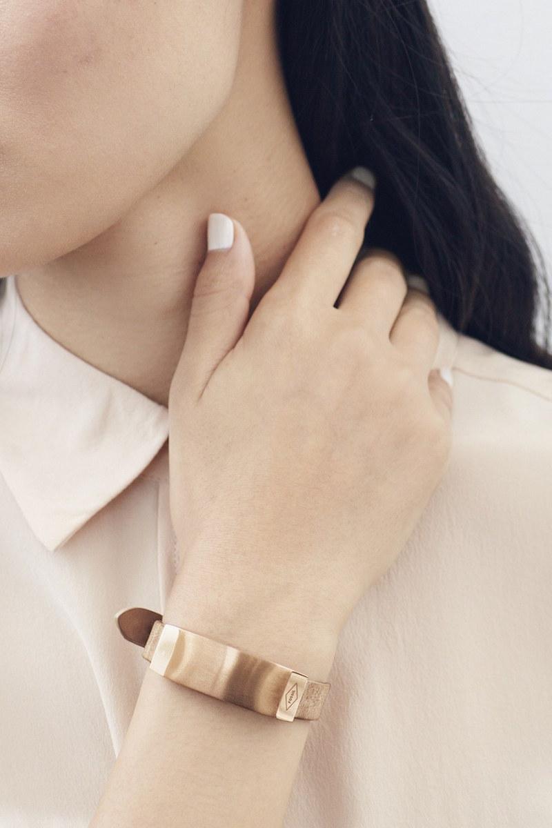Fossil Fossil Q Dreamer Leather Strap Smart Bracelet