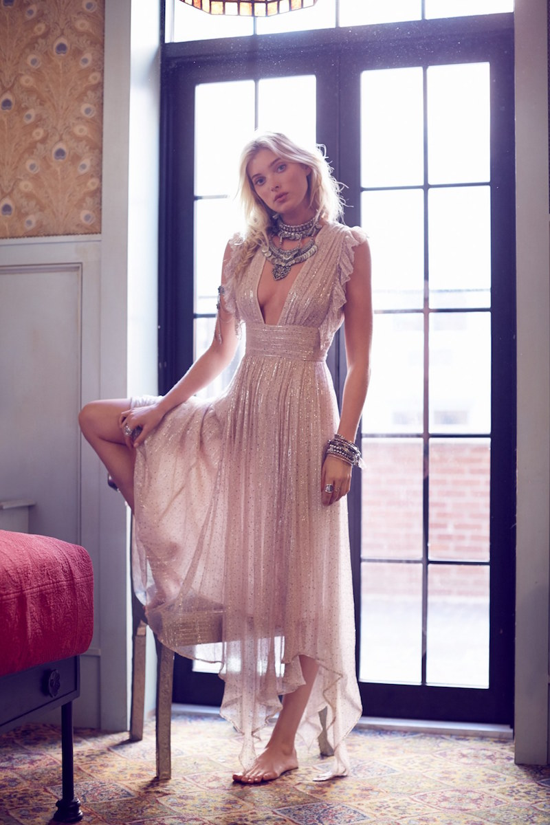 Free People My Antonia Plunge Maxi Dress