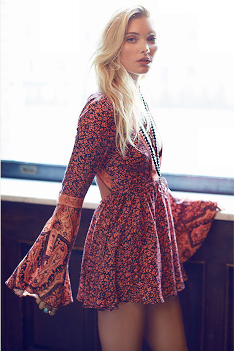 Free People Once Upon a Summertime Floral Print Romper