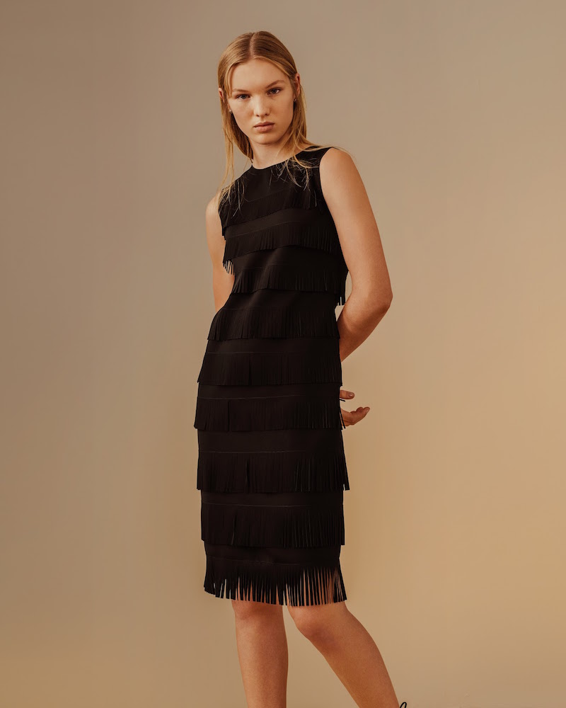 Giorgio Armani Fringe Shift Dress