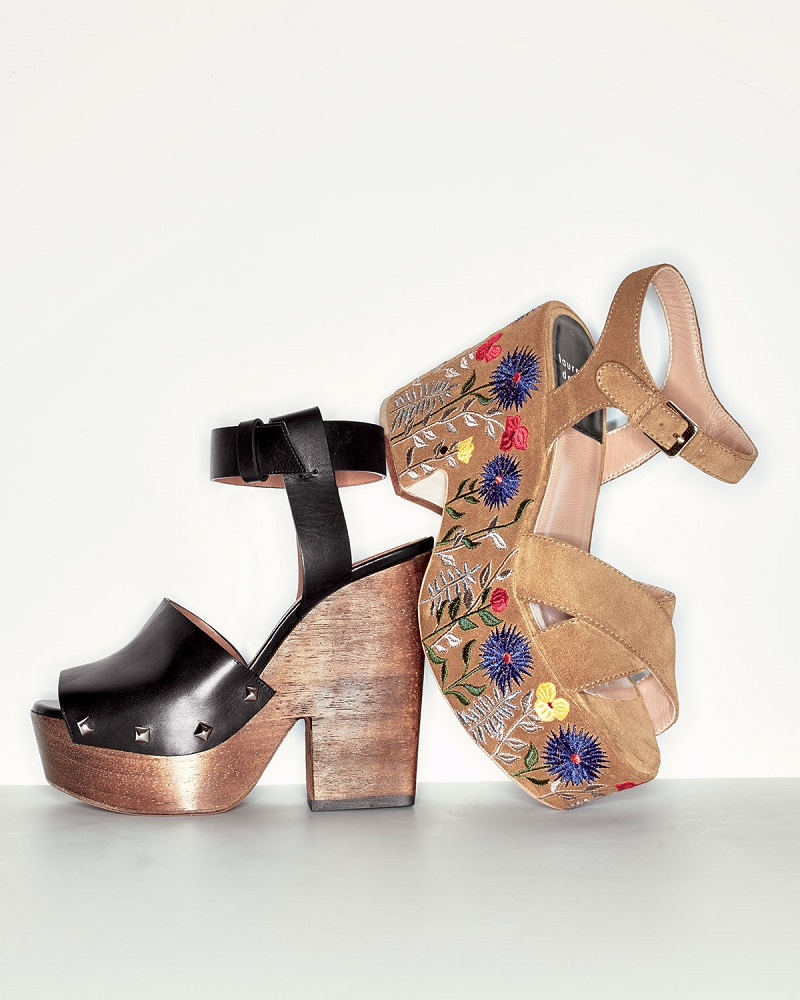 Givenchy Leather Wedge Clog Sandal