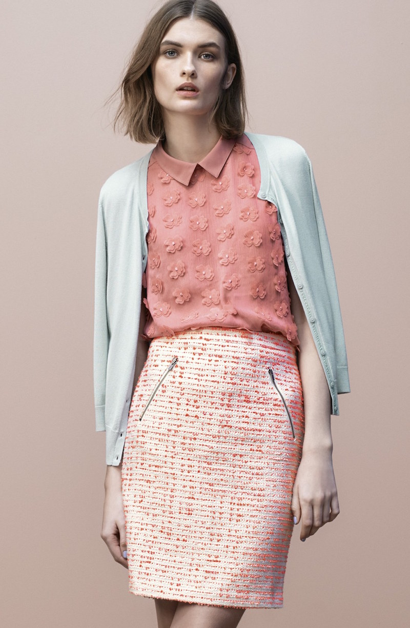 Halogen Floral Front Collared Top