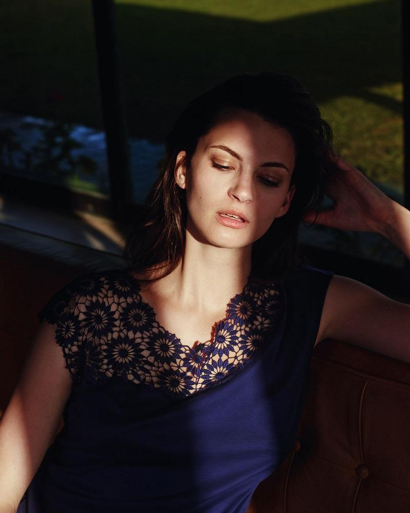 Hanro Eva Lace-Trim Two-Piece Pajama Set
