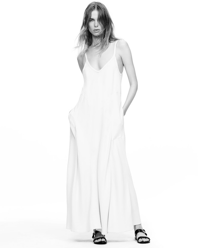 Helmut Lang Crepe Slip Dress