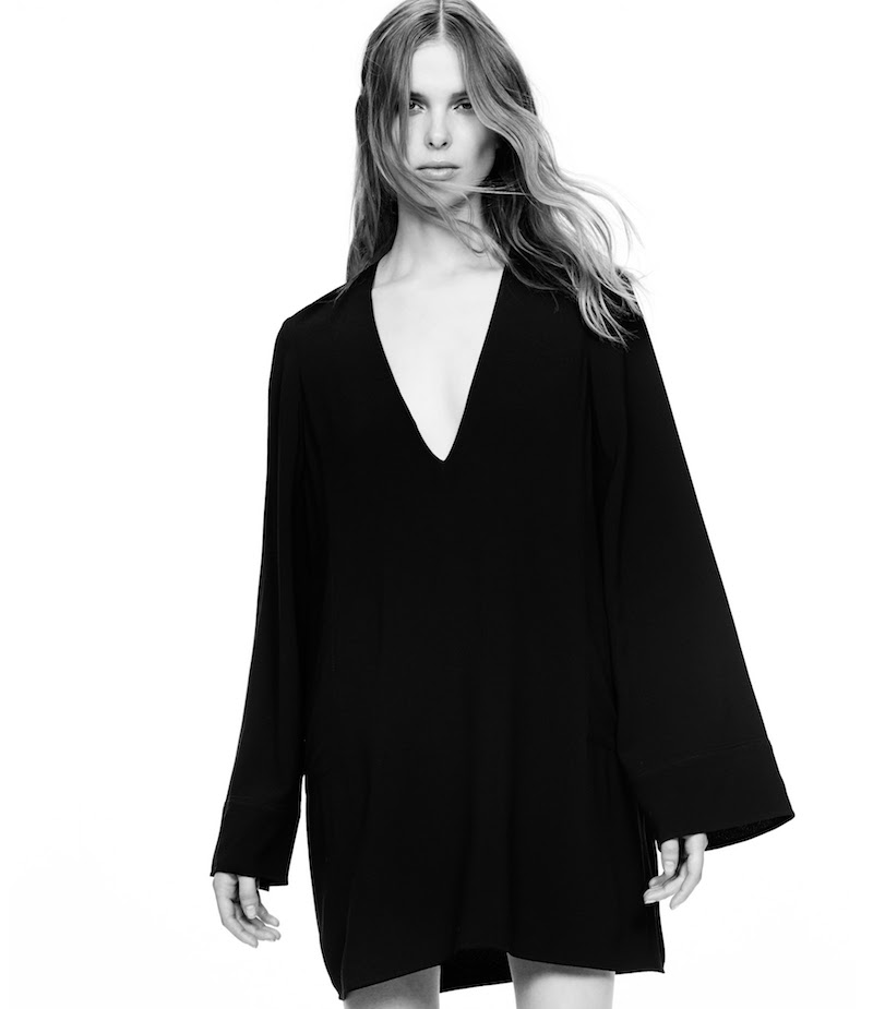 Helmut Lang Crepe Swing Dress