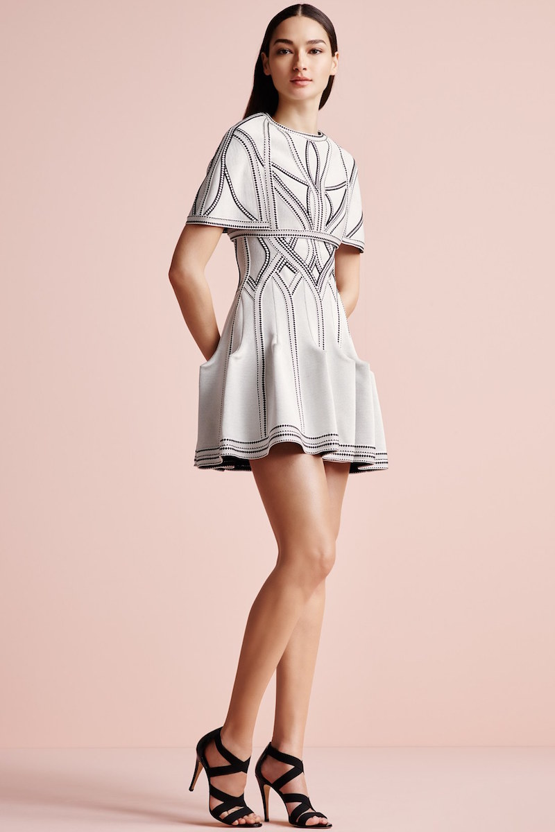 Herve Leger Eliana Caged Jacquard Dress