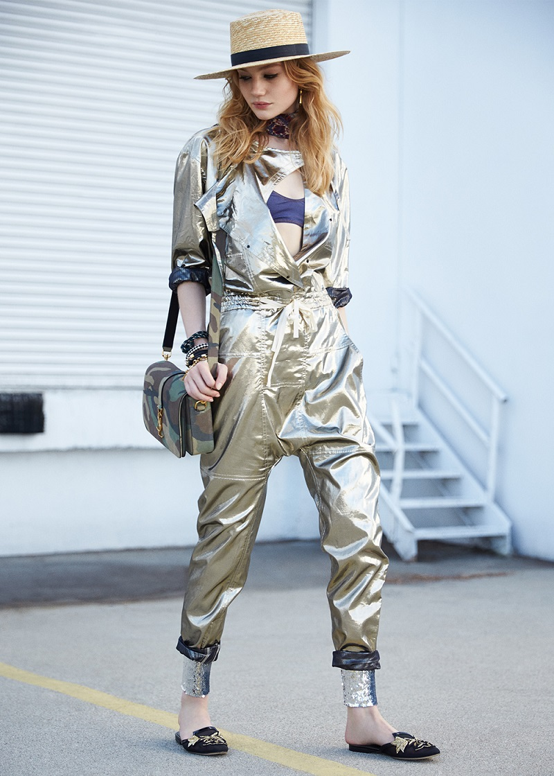 Isabel Marant Metallic Silk Nubia Jumpsuit