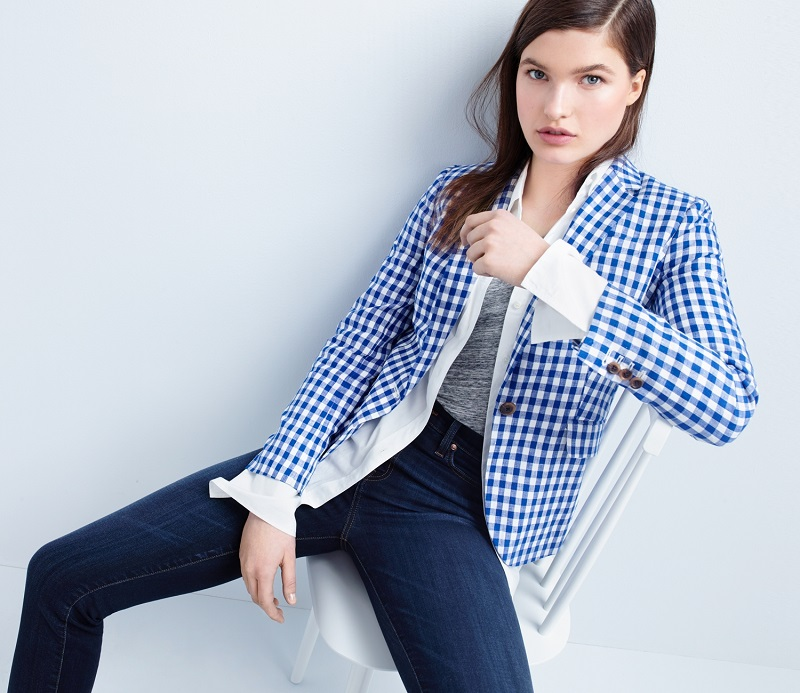 J.Crew Campbell blazer in gingham