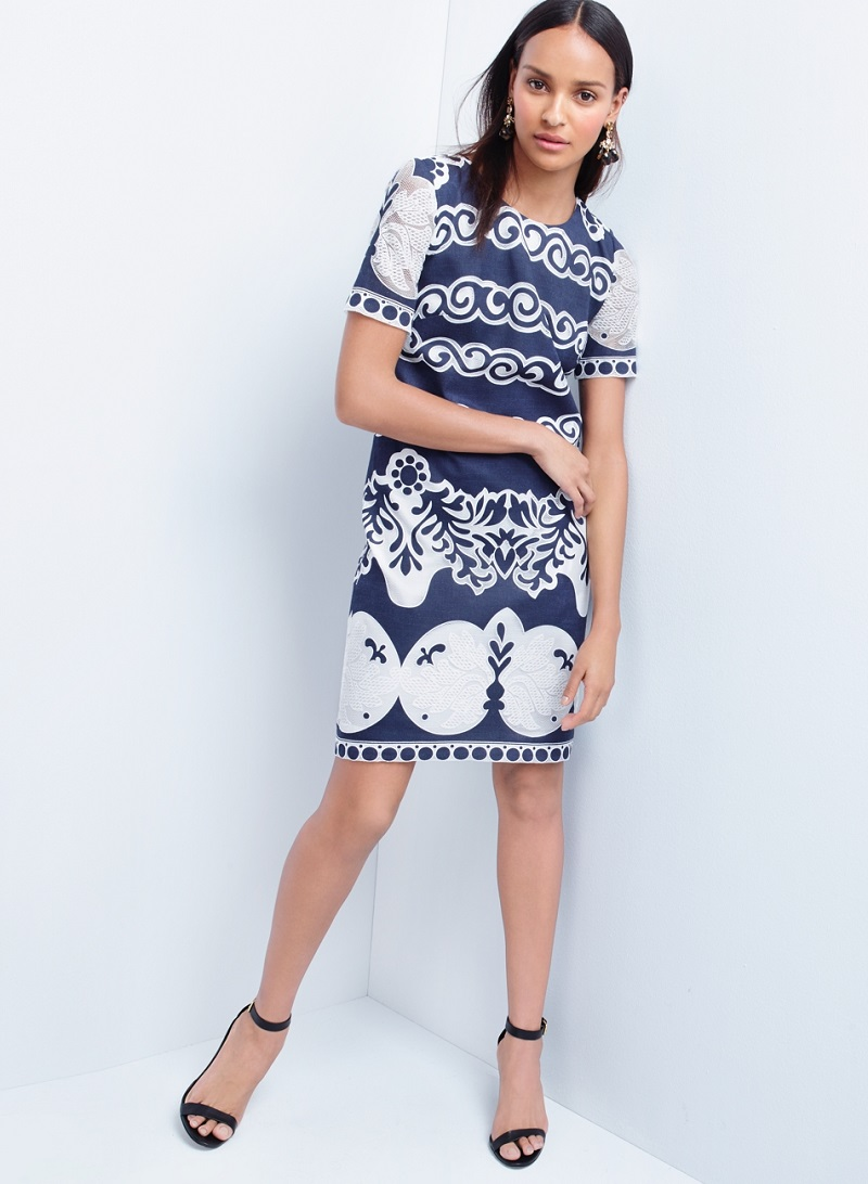 J.Crew Short-sleeve shift dress