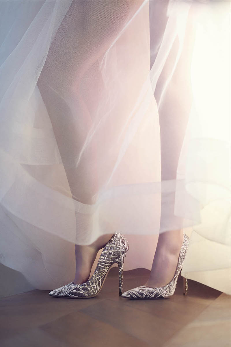 JIMMY CHOO Agnes Light Khaki Suede Pointy Toe Pumps with Crystal and Stone Embellishments
