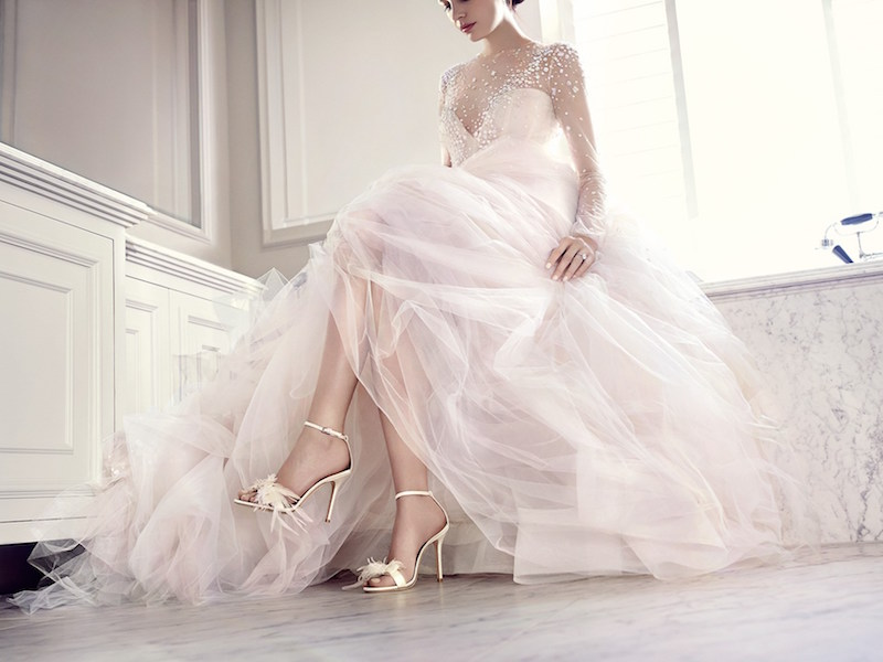 JIMMY CHOO Vivien 85 Ivory Satin Sandals With Feather Bow