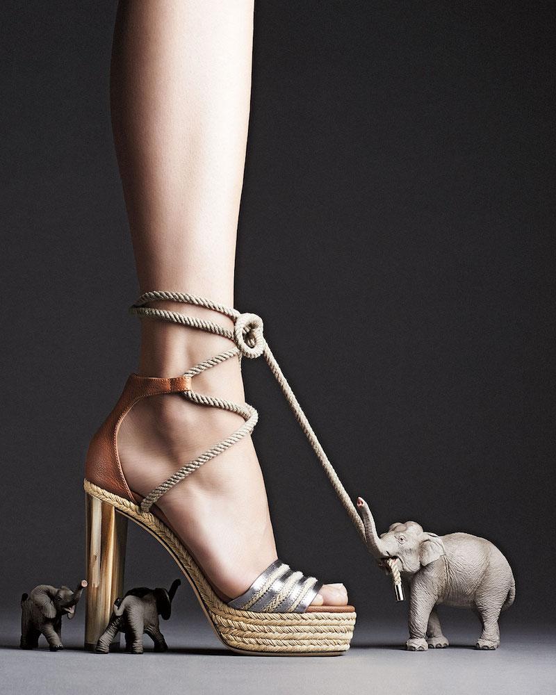 Jimmy Choo Mayje 130mm Rope-Tie Platform Sandal