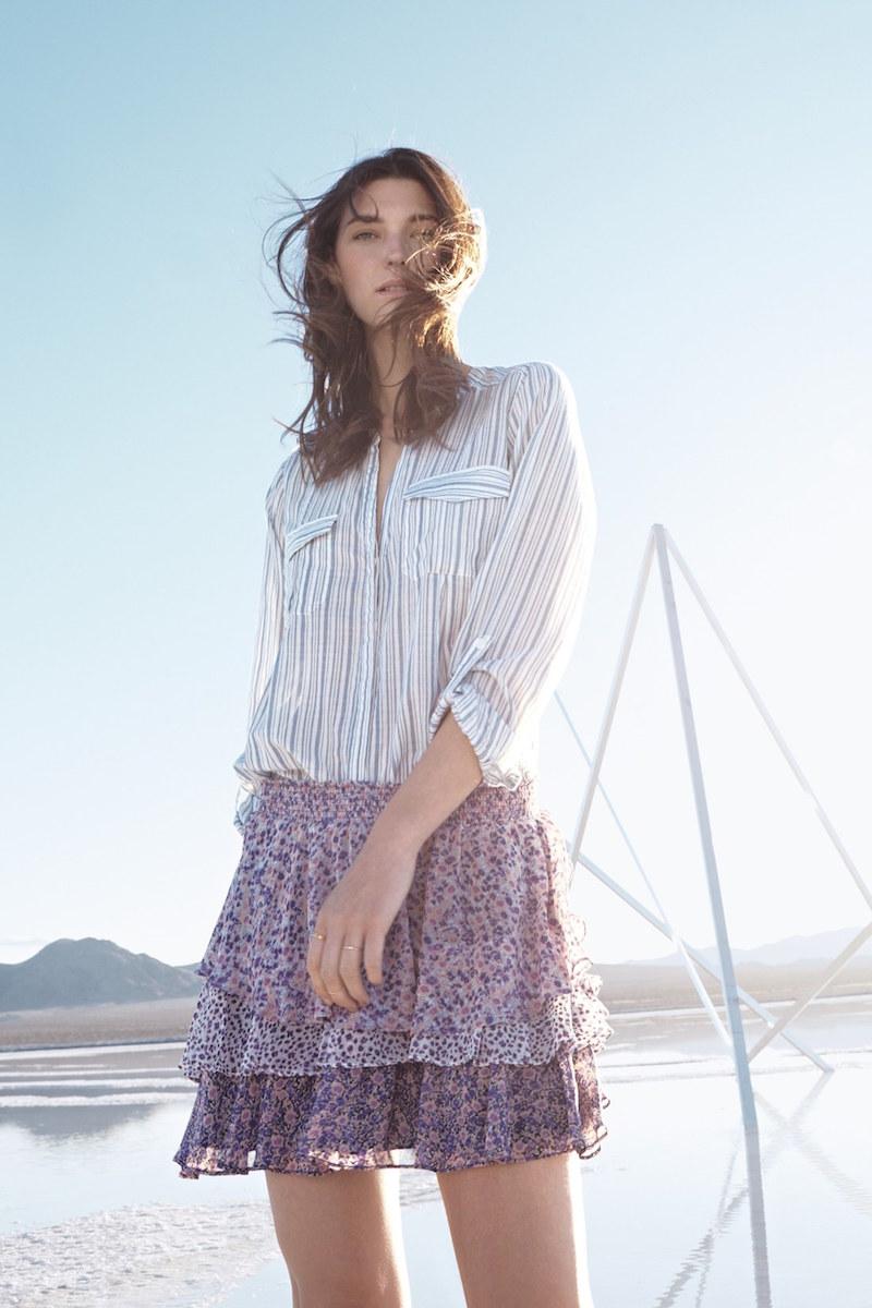 Joie Kalnchoe Stripe Cotton Blouse