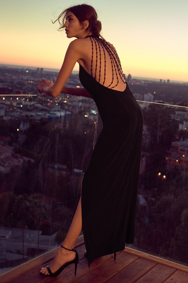Jump Apparel Bree Beaded Back Gown