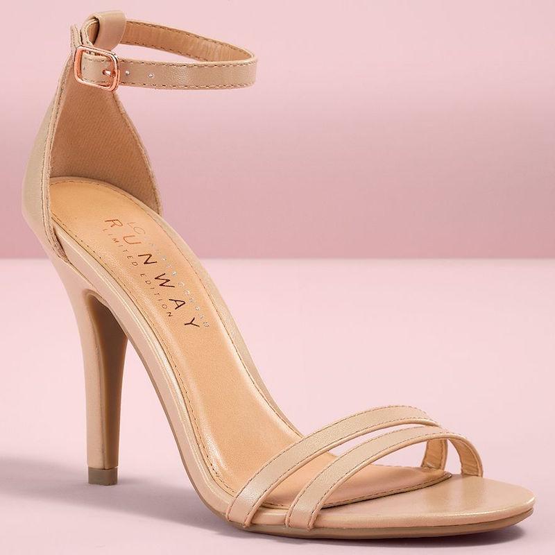 LC Lauren Conrad Runway Collection Ankle Strap High Heels