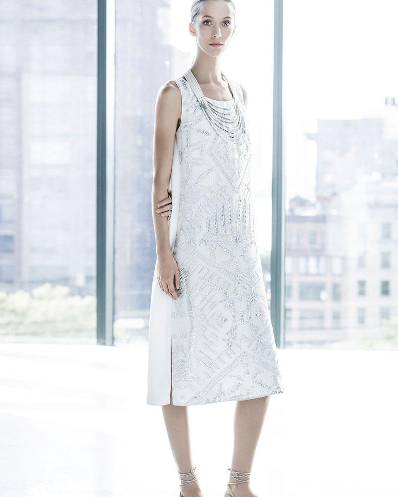 Lafayette 148 New York Lola Sleeveless Fil Coupe Dress