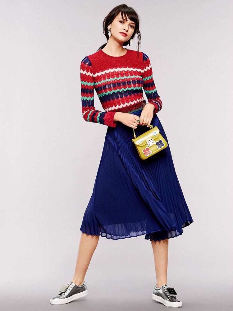 M Missoni Colorblock Zigzag Sweater