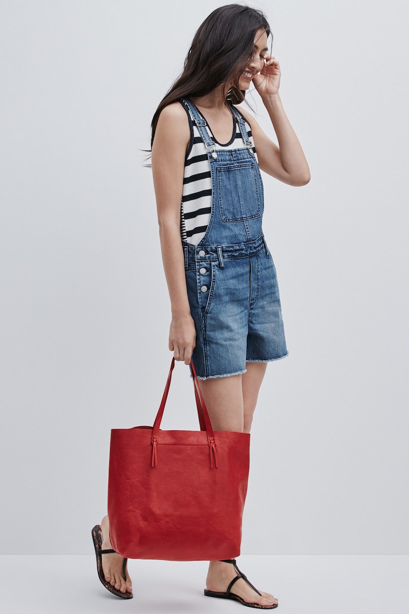 Madewell Denim Cutoff Short Overalls