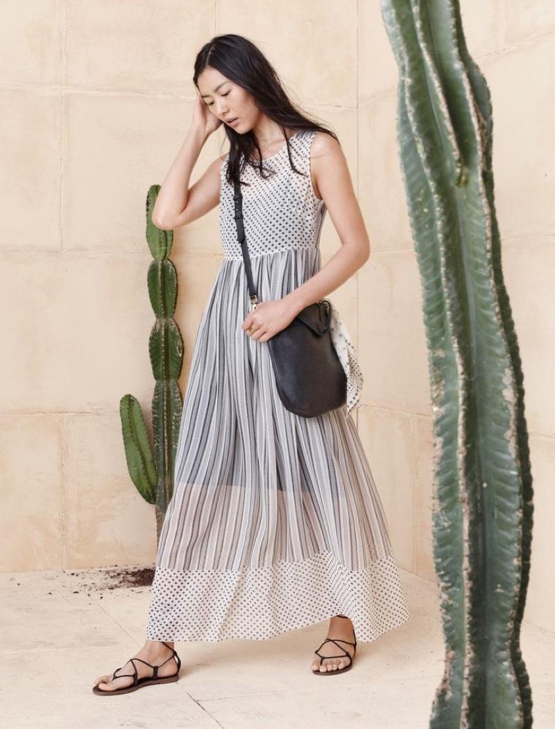 Madewell Double-Print Layered Dress