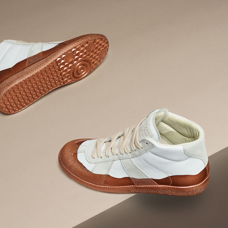 Maison Margiela Patent-Dipped Replica Sneakers
