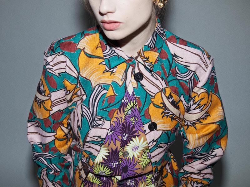 Marni Long Floral Jacquard Shirt