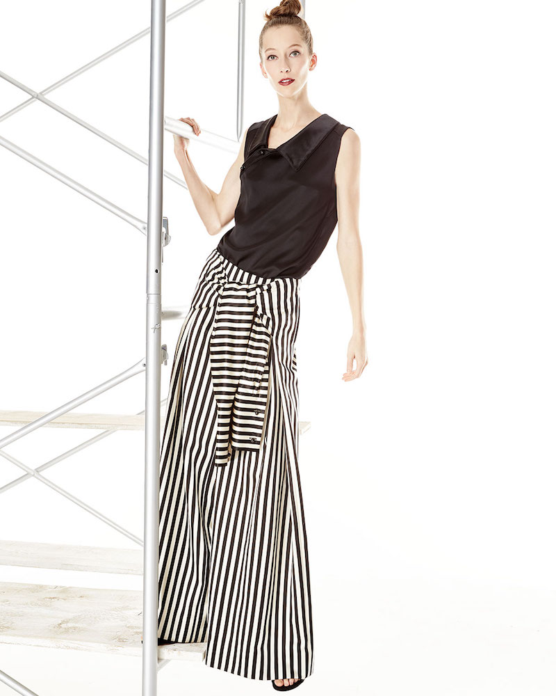 Monse Wide-Leg Striped Pants