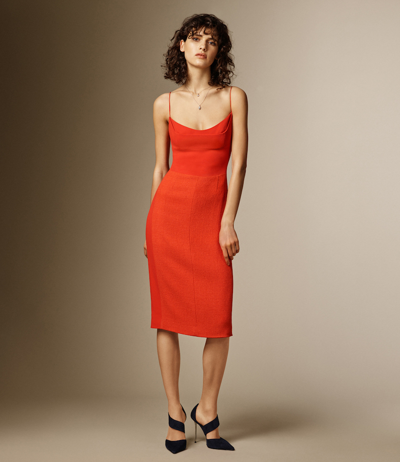 Narciso Rodriguez Fitted Spaghetti-Strap Dress