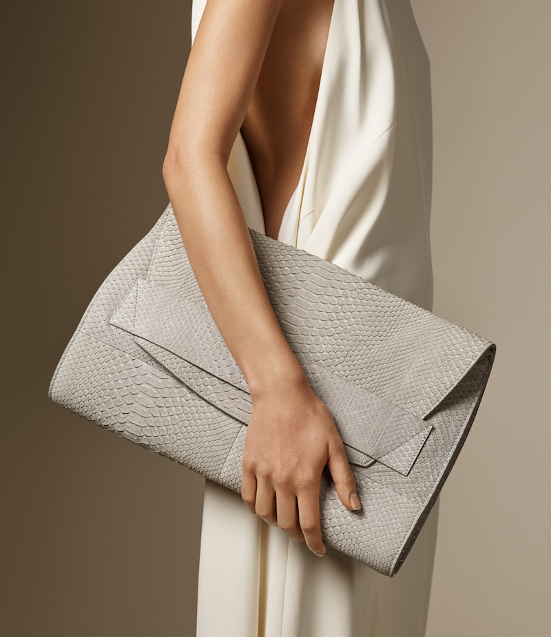 Narciso Rodriguez Python Jaq Clutch