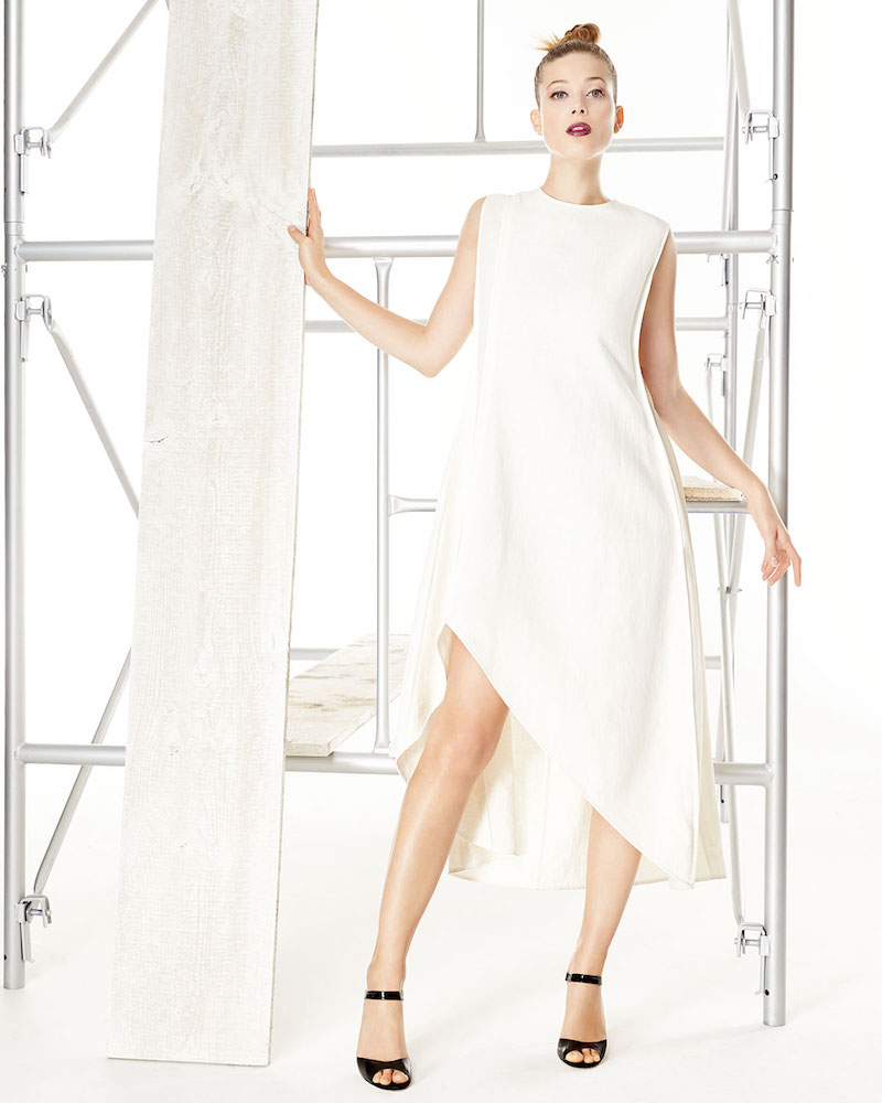 Narciso Rodriguez Sleeveless A-Line High-Low Dress