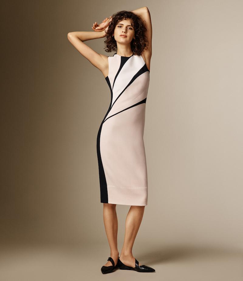 Narciso Rodriguez Wave-Pattern Sheath Dress