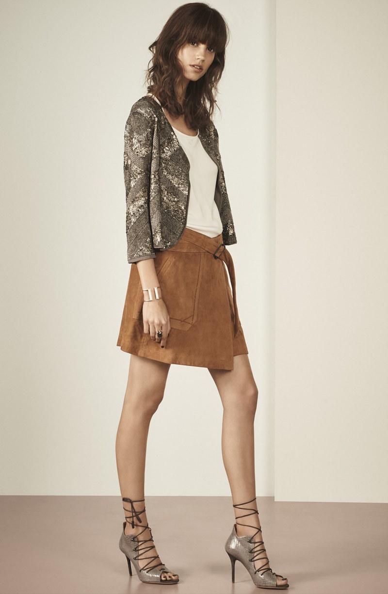 Olivia Palermo + Chelsea28 Embellished Drape Front Jacket