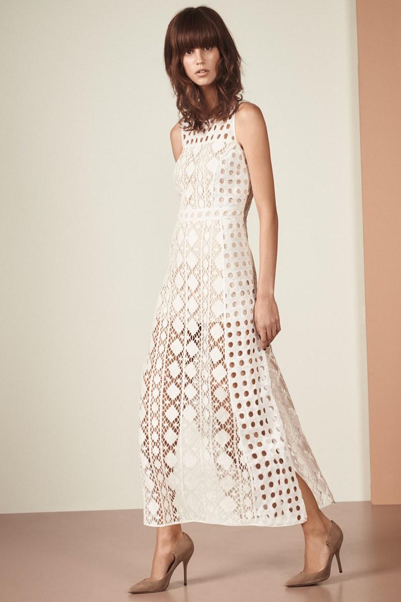 Olivia Palermo + Chelsea28 Patchwork Lace Midi Dress