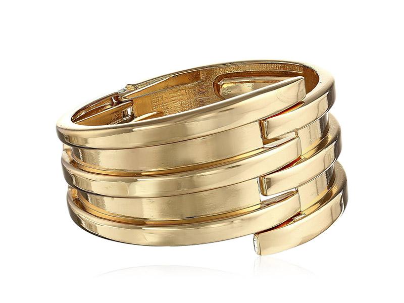 Panacea Gold-Tone Hinge Cuff Bracelet