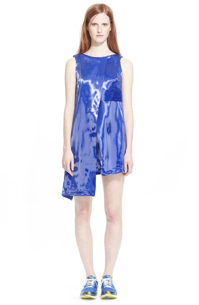 Phelan Asymmetrical Metallic Sheath Dress