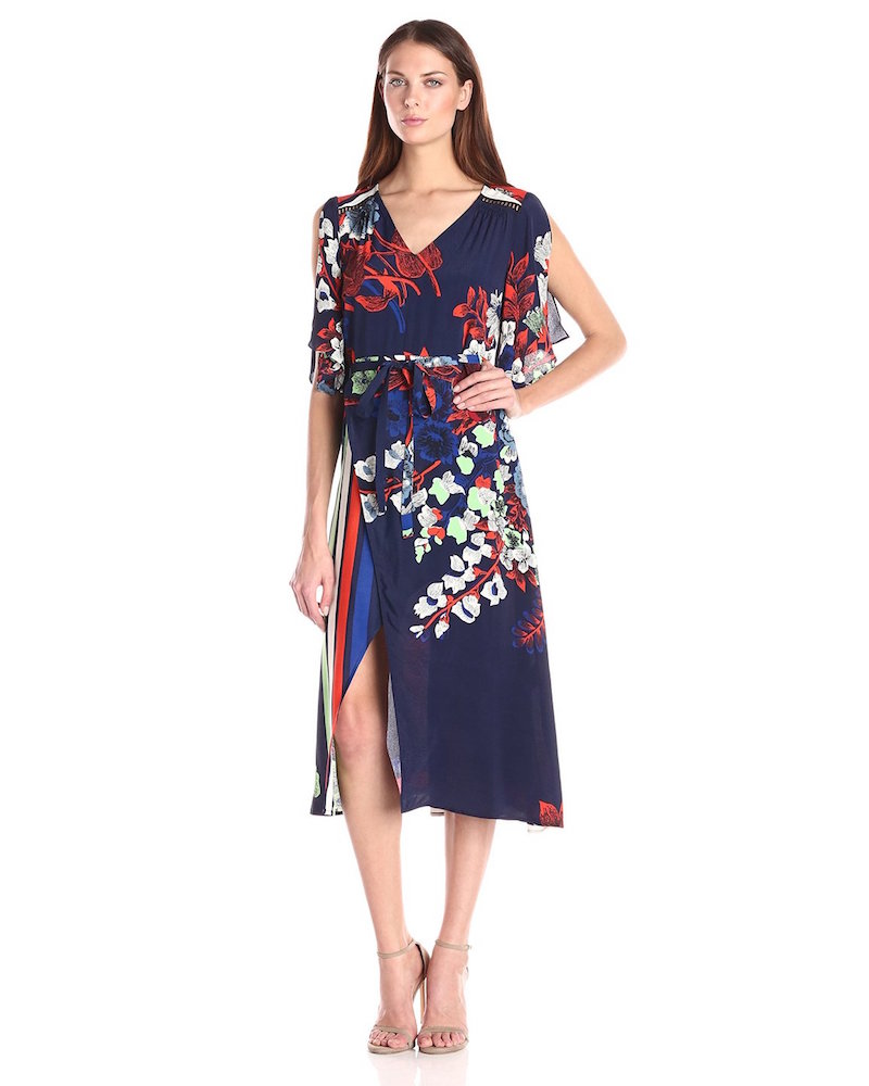 Plenty by Tracy Reese Mykonos Floral Surplice Midi Dress