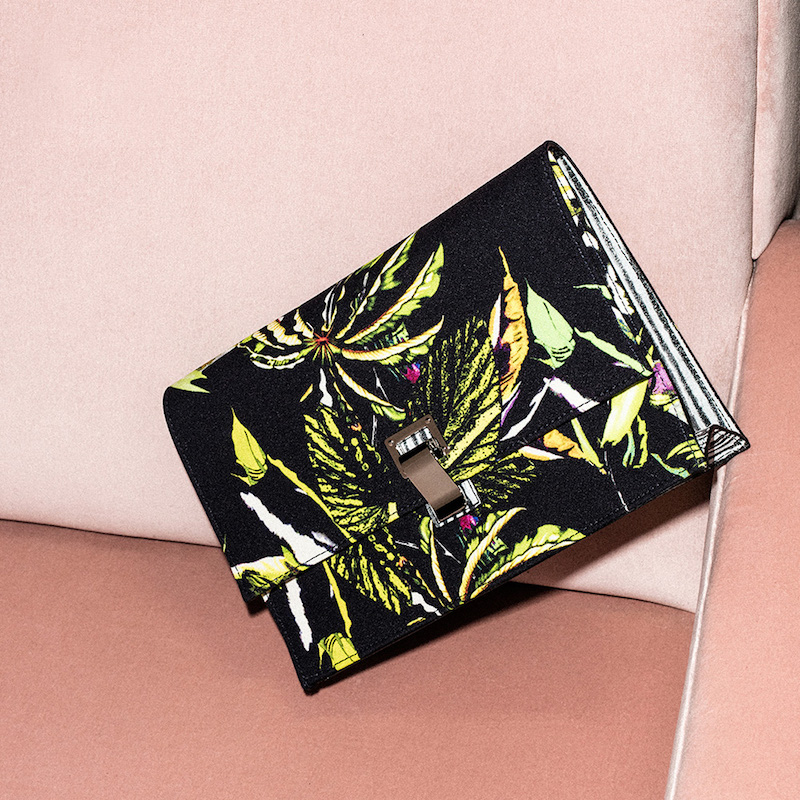 Proenza Schouler Small Floral Print Satin Lunch Bag