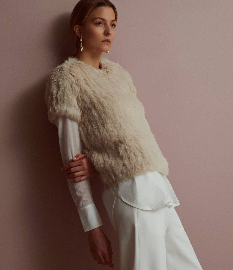 R/R Studio Rabbit Fur Top