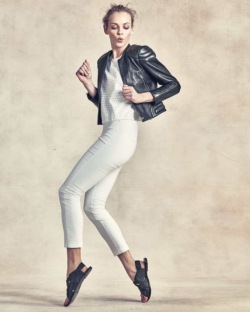 Rag & Bone Astor Leather Zip-Front Jacket