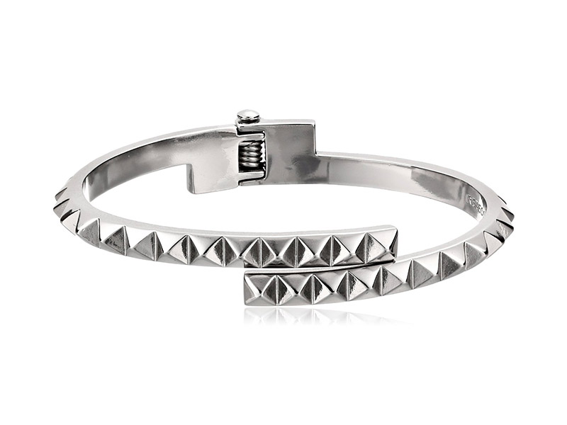 Rebecca Minkoff Pyramid Hinge Thin Bangle Bracelet