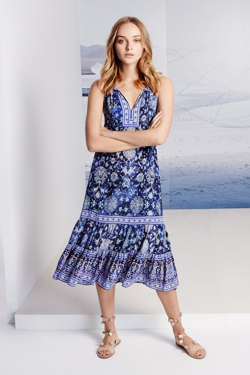 Rebecca Taylor Dreamweaver Print Silk Midi Dress_1